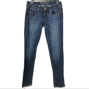 American Eagle Long Stretch Low Rise Skinny Jeans